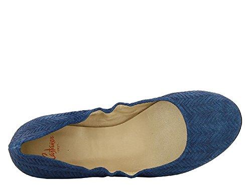 Blått Ballerina Modellnummer Medium 5cav5 Semsket 874501 Castaner Leiligheter I Skinn 4t5wxyq6Hq