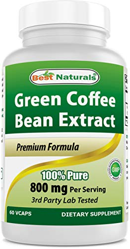 Best Naturals, 100% Pure Green Coffee Bean Extract, 800 mg per Serving, 120 Vcaps