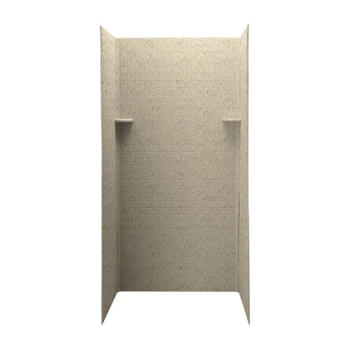 Swanstone DK-363672TN-050  Solid Surface 3 Panel Shower Side and Back Wall, Tahiti Desert Desert Stone Bath Fixture