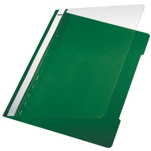 langes Beschriftungsfeld gr/ün A4 PVC Esselte Leitz Hefter Standard
