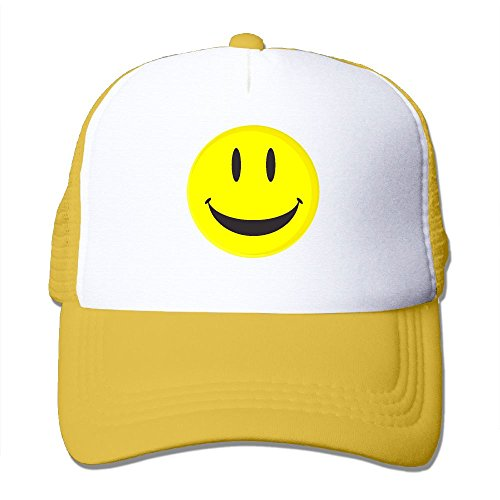 Cap Happy Face (Fdreattyuny Be Happy Smiley Face Fashion Baseball Cap for Men and Women Adjustable Mesh Trucker Hat)