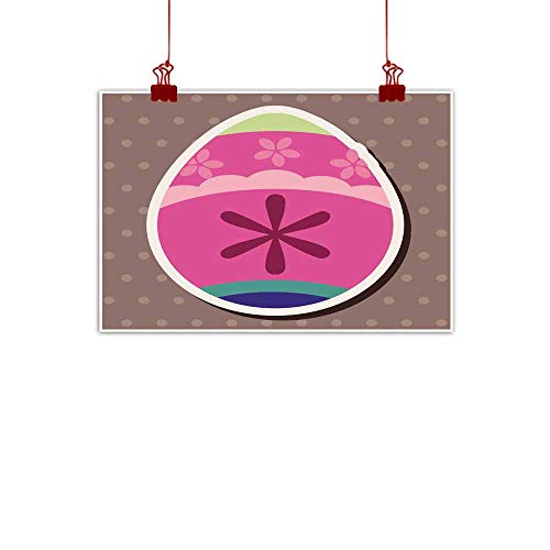 """Mannwarehouse Modern Frameless Painting Easter Egg Flat icon Elements Background eps Bedroom Bedside Painting 32"""" Wx24 L"""