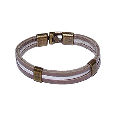 AUTHENTIC HANDMADE Leather Bracelet, Men Women Wristbands Braided Bangle Craft Multi [SKU001771]