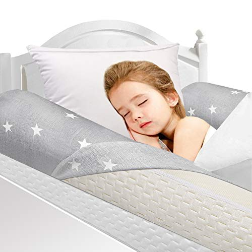 UBBCARE Memory Foam Toddlers Bed Rails Bumpers Soft Portable Toddler Bed Safety Long Pillow Pads Bedside Rail Guard for Crib Kids Baby Elderly with Machine Washable