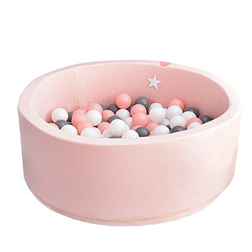Wonder Space Deluxe Handmade Kids Foam Round Ball Pit| Quality and Durable Premium Drypool with Non-Toxic Safe Materials, Sofe & Thick, Ideal for Little Tots Babies Above 1-year (Light Pink) by Wonder Space (Image #7)