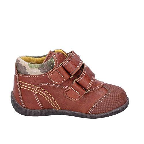 PABLOSKY Sneakers Bambino Marrone Pelle Gomma Camoscio