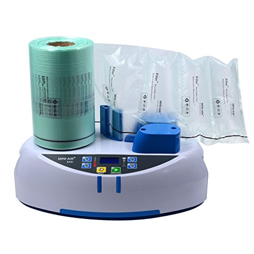 Packaging Machine (Mini Air Easi Air Pillow Maker Air Bubble Wrap Making Machine Air Cushion Machine Inflatable Packaging + 1 Free Test Film Roll)
