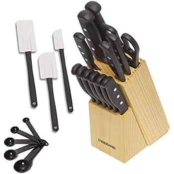 Amazon Com Utopia Kitchen Stainless Steel Knife Block Set