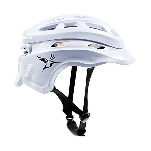 Hummingbird Sports Girls Ladies Lacrosse Helmet Headgear Black White S/M & Large