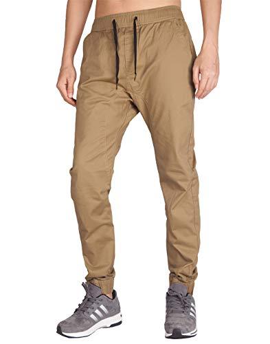 ITALY MORN Men's Chino Jogger Sweatpants Casual Pants M Dark ()