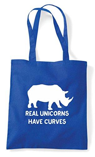 Rhino Body Funny Blue Unicorns Royal Real Positive Have Shopper Tote Curves Bag Image x4Y0tqRw
