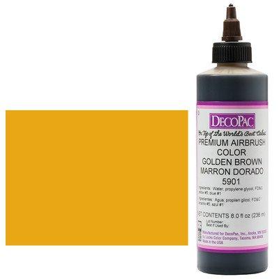 (Golden Brown Premium Airbrush Color 8 oz )