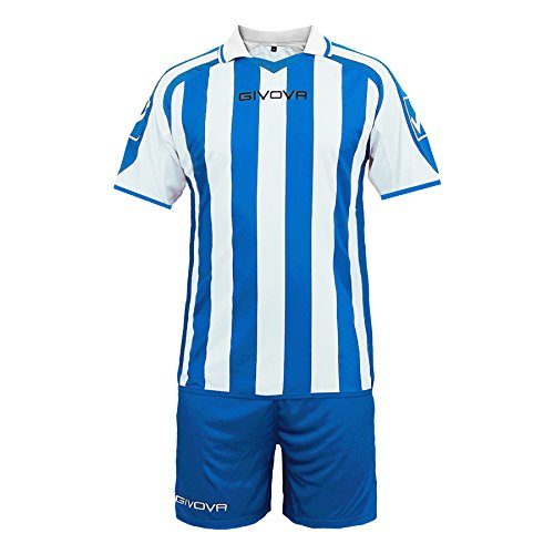 TALLA XXXS. Givova, kit supporter mc, azul/blanco, 3XS