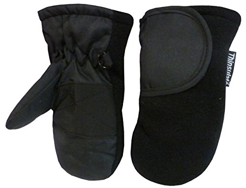 nice-caps-baby-unisex-thinsulate-and-waterproof-easy-on-velcro-closing-mitten-1-2yrs-black-solid