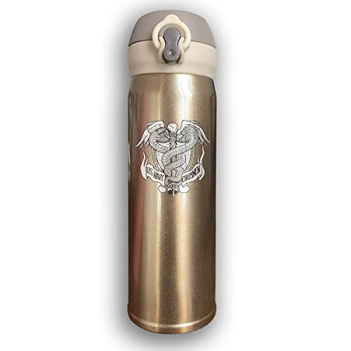 Dicobrune Double Wall Vacuum Insulated Stainless Steel Sports Water Bottle,US Navy Hospital Corpsman Rating Stainless Steel Leak Proof Thermos 17 Oz ()
