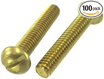 10-32 X 1//2 Slotted Flat Machine Screw Brass Package Qty 100