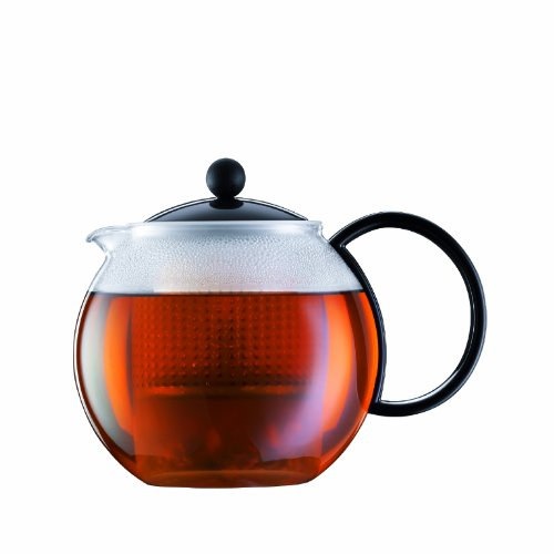 Bodum Assam Medium Tea Press with Plastic Filter, Black, 1.0 l, 34 oz.