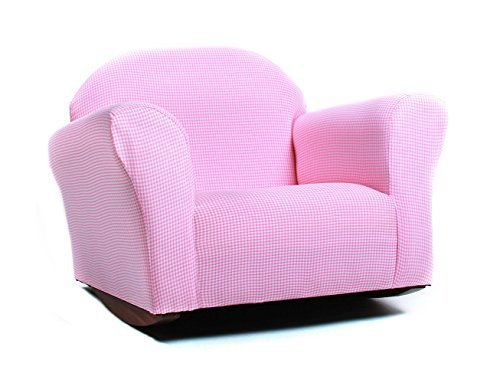 KEET Roundy Rocking Kid's Chair Gingham, Pink by Keet by Keet