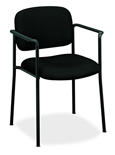 HON Scatter Guest Chair - Upholstered Stacking Chair with Arms, Office Furniture, Black (VL616) -