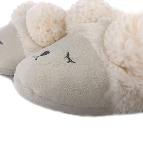 Mouton lapin Licorne Fille Pantoufles Blanc Femme Confortable Léger Cadeau Chaud Antidérapant Animaux Chaussure Chambre Chausson Osvino Remplissage mouton Hiver Rigolos qY0UpgnnA