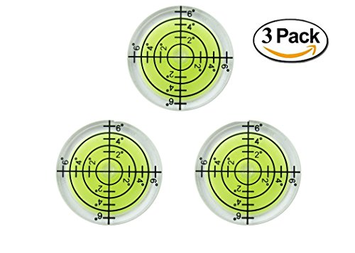 32mm Circular Bubble Spirit Level BY GFNT for Tripod, Phonograph, Turntable Etc (3-Pack - Level Bullseye