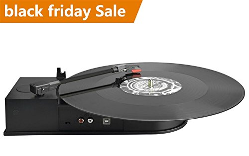 DigitNow Portable Mini USB Vinyl Turntable Record To Mp3 CD Converter,Audio Conversion Turntable Adapter To Supports Windows or Mac in 3 Step