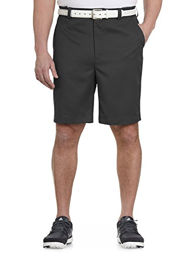 Oak Hill DXL Big and Tall Flat-Front Waist-Relaxer Microfiber Shorts Charcoal 50 Microfiber Flat Front Shorts