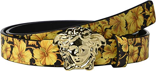 Versace Kids Boy's Reversible Medusa Belt (Big Kids) Black/Gold M 11