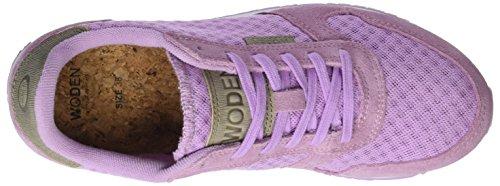 Sneaker Da Donna In Pelle Scamosciata Ydun Woden, Rosa Verde (lilla Brillante)