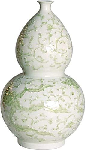 - EuroLuxHome Vase Dragon Lotus Flower Gourd Celadon New Handmade Hand-Crafted