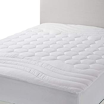 Bedsure Mattress Pad California King Size - Breathable - Ultra Soft Quilted Mattress Pad Deep Pocket, Fitted Sheet Mattress Cover White