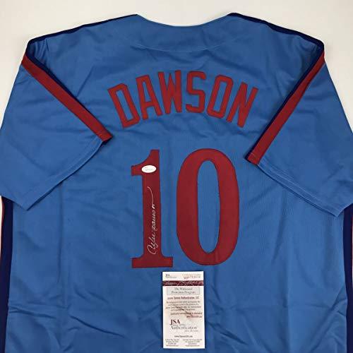 Autographed/Signed Andre Dawson Montreal Blue Baseball Jersey JSA COA ()