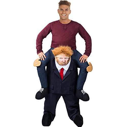 Tigerdoe Trump Costume - Ride On Shoulders Costume - Carry Me Costume - Donald Trump Piggyback Costume]()