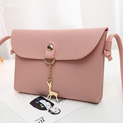 téléphone sac cuir cerf style pendentif rabat sac petit main simple Sac sac sac portable à PU à bandoulière à de à embrayage petit femme en bandoulière wOqtzngp