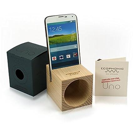 Ecophonic - Altavoz ecológico, Modelo UNO Universal, Fabricado en Castaño Compatible con la Mayoría de Smartphones: Amazon.es: Electrónica