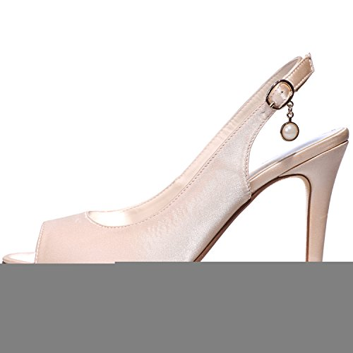 Shoes Party Women's Clearbridal Court for 18 Toe ZXF5623 Stiletto Wedding Evening Bridal Porm Shoes Sliver Satin Heel Peep High Open 7qaqd1xw