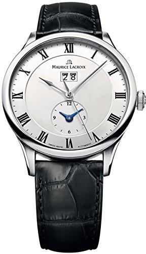 Maurice Lacroix Masterpiece Reserve De Marche Men's White Face Automatic Watch MP6807-SS001-112