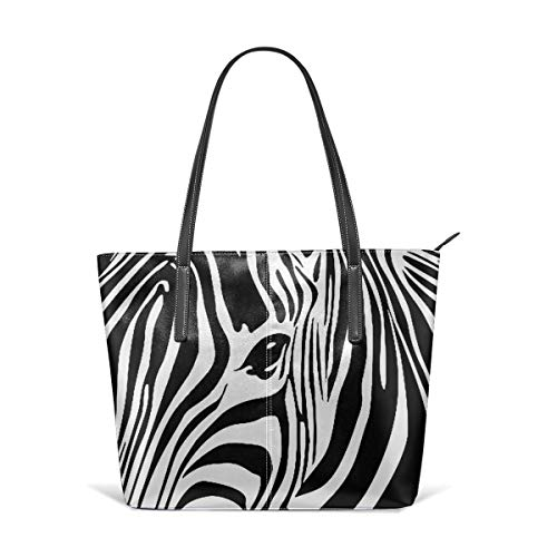 (Zebra Print Tattoo Women's Handbag PU Leather Tote Shoulder Bags Soft Hot)