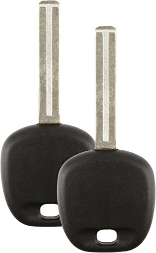 (Discount Keyless Replacement High Security Ignition Transponder Uncut Short Key Compatible with ID 4C (2 Pack))