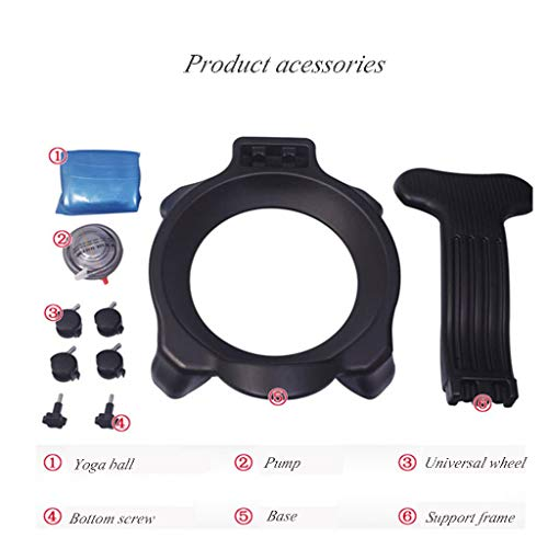 Sports & Fitness Yoga Ball Chair Child Sitting Posture Correction Ball Chair Office Chair Fitness Shaping Yoga Ball Chair Pregnant Yoga Ball Chair (Load Bearing: 300kg) Exercise Ball Chairs by PHSP (Image #4)