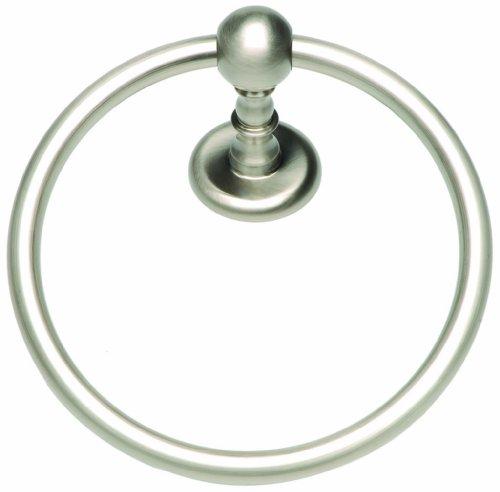 Atlas Homewares EMMTR-BRN Emma Brushed Nickel 7.09-Inch Towel Ring