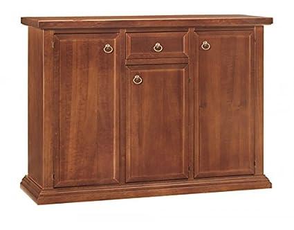 Credenza Vintage Da Cucina : Vintage home credenza in legno 3 porte 1 cass. da 120x40x88h: amazon
