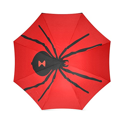 Black Widow Spider Pattern Anti Rain Windproof Travel Golf Sports Foldable Umbrella