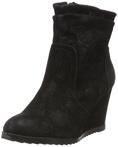 Miss KG 7937900979, Botas Cortas de Cuñas Mujer Negro (Black)
