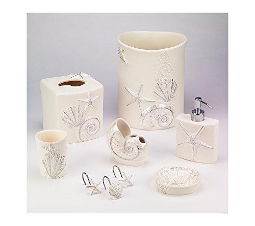 Avanti Sequin Shells Wastebasket (Seashell Wastebasket)