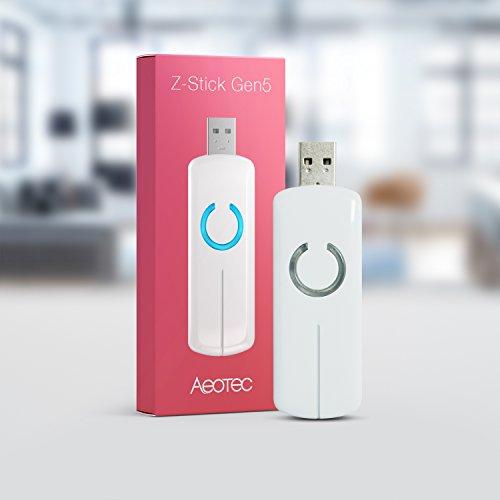 - Aeotec Z-Stick Gen5, Z-Wave Plus USB to create gateway