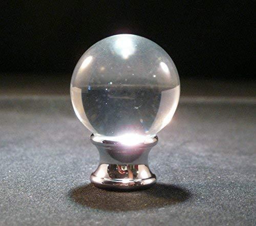 Lamp Finial-Crystal ORB Polished Chrome Base