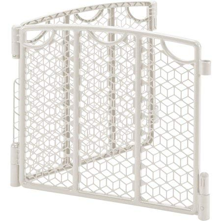 OurBabies Versatile Play Space Gate, Cream & 2-Panel Extension Value Bundle