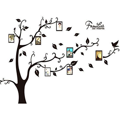 DealMux Grande Family Tree Decalque removvel DIY Photo Frames Wall Art etiqueta Peel ficar decorao mural para o quarto home office sala de estar