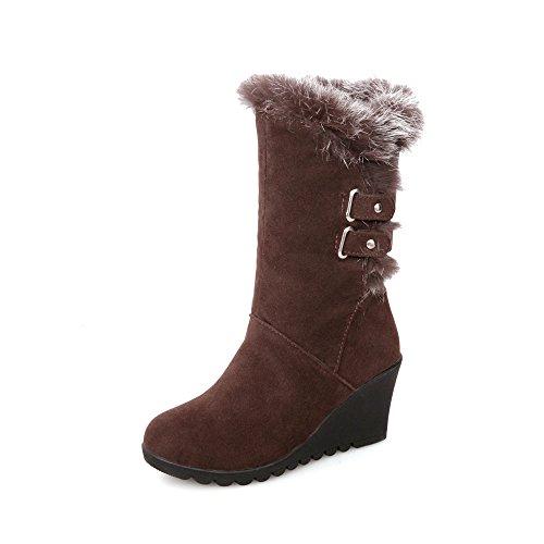 CXQ stivali fondo spesso neve Brown libero scarpe Donna calda QIN amp;X Stivali ZwzqZrF